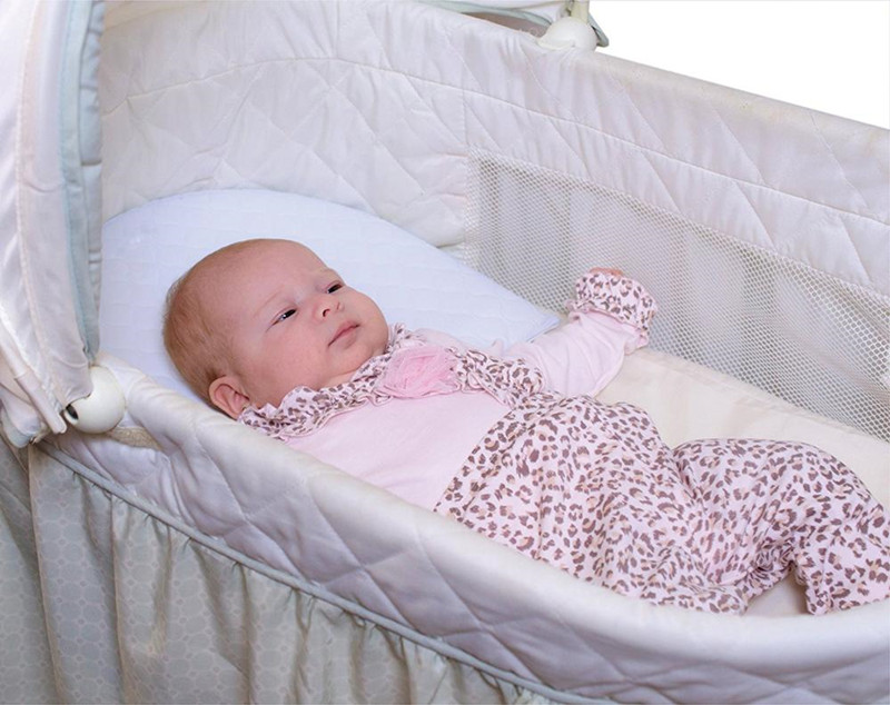 Infant Wedge Pillow For Reflux Colic Rounded Bassinet