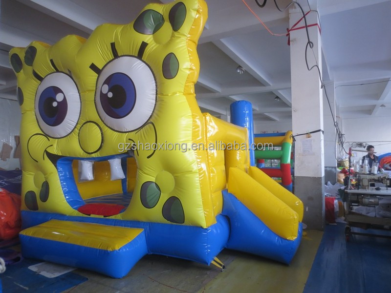 spongebob inflatable bounce jumping/inflatable bouncy castle prices