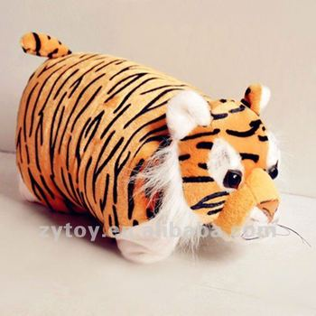 Animal Shaped Eye Pillow : Cute Tiger Folding Seat Cushion Plush Animal Shaped Pillow &cushion - Buy Plush Animal Shaped ...