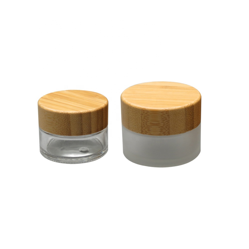 High quality 5g 30g 50g 100g 200g 500g empty bamboo cream cosmetic jar wholesale BP-222S