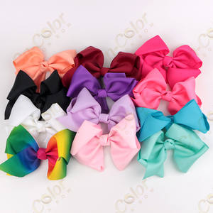 Baby Girl Grosgrain Ribbon 6'' Large Boutique Hair Bows Flamingo Hair Bow