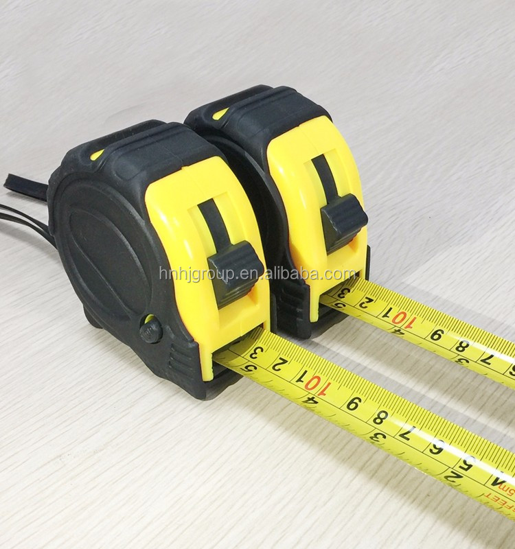 good quality cheap tape measure abs case and rubber coat measuring tape