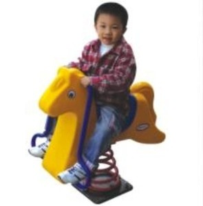 Customized size plastic rocking horse swing with factory direct sale price
