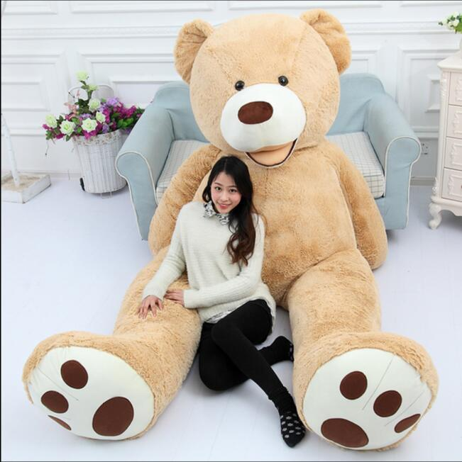 130cm giant bear hull american bear teddy bear skin factory price soft toy best gifts for girls. Black Bedroom Furniture Sets. Home Design Ideas