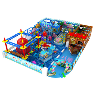 Shopping mall Large Indoor Soft Playground Equipment Rides Children Amusement Park with Trampoline and Ninjacourse for sale