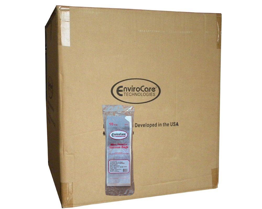 1 Case (10 pkgs) Commercial Euroclean Pro, Kent, Nilfisk, Advac, Lindhaus 09410509 Upright Vacuum Cleaner Bags Model Pro 14 DU135, CarpeTwin Upright 14/18, Two motor, Healthcare Pro, RX HEPA, Ch Pro