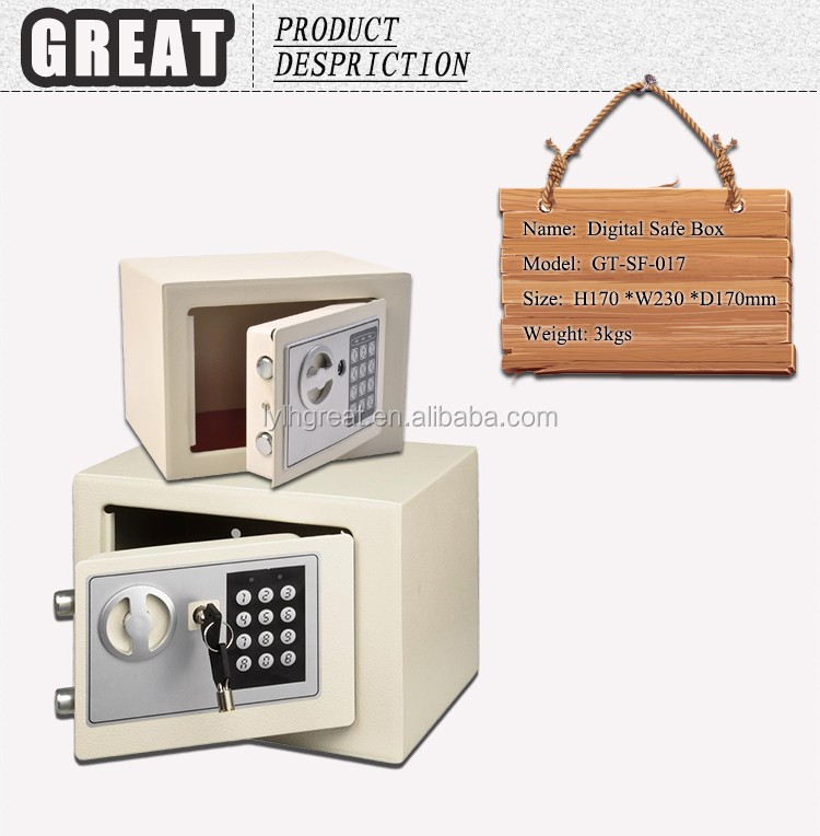 Strong quality cheap small digital hotel safes assemble hotel cash iron safe box