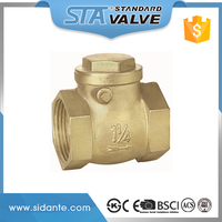"ART.4007 Chinese Supplier Reasonable Price List 1/2""- 2"" One Way Clack Non-Return Brass Swing Type Check Valve For Water Gas"