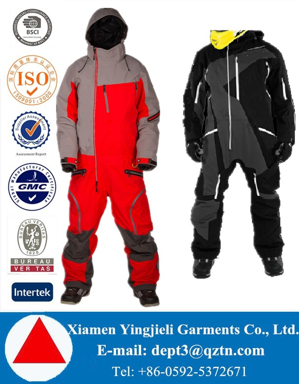 Different Levels of Quality Custom Fashion Adults One Piece Snow Suits Snowboard Overall Snowmobile Suits