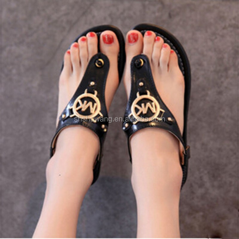 Wholesale trade <strong>sandals</strong> summer fashion lady MK flip flops beach <strong>sandals</strong> for women explosion models Hot