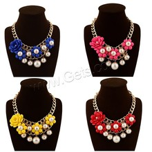 90mm With ABS Plastic Pearl & Iron Chain & Zinc Alloy Acrylic Beads Necklace