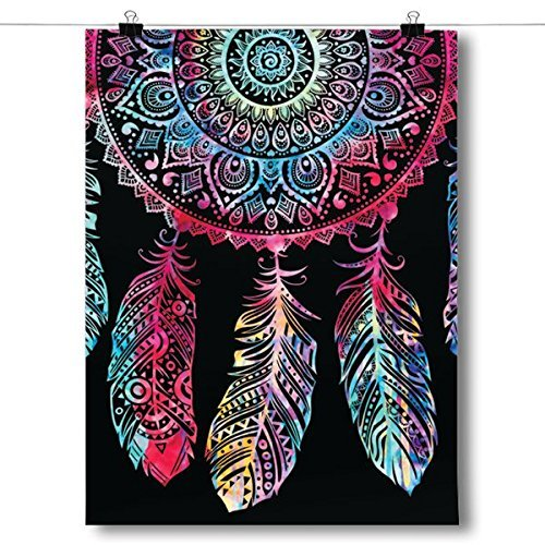 """60"""" x 80"""" Blanket Comfort Warmth Soft Plush Throw for Couch Colorful Dreamcatcher Spiritual"""