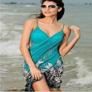 Hot style ice condole belt wrap skirt the bikini beach dress summer beach holiday strap dresses