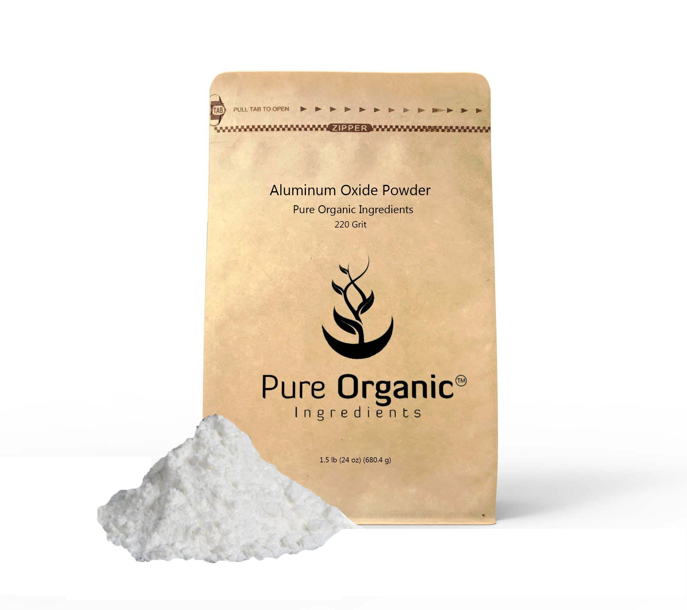 Aluminum Oxide (2 lb. (32 oz.)) by Pure Organic Ingredients, Fine Powder 220 Grit for Etching, Polishing, Sharpening