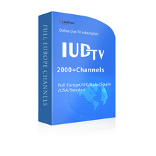 Best Selling IUDTV IPTV Subscription Europe IPTV UK Italy Germany Channels IPTV Server Arabic M3U 1 Year 1700 Channels EX-YU