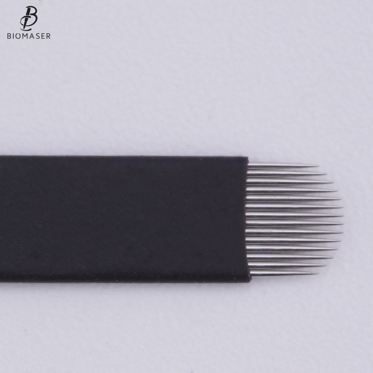 High Quality Super Black Biomaser Embroidery Eyebrow Microblading Needles Sharp Micrblading Blades for Tattoo