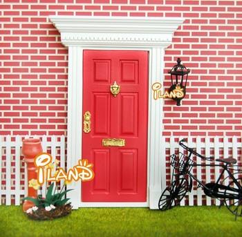 Small Fairy Door Mini Doors Dollhouse door Wood Painted Exterior Door W/ Hardware Open Outward & Small Fairy Door Mini Doors Dollhouse Door Wood Painted Exterior ...