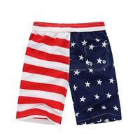 cute boys small young boy stripe and stars USA flag swim trunk swim shorts surf shorts surf suit board short swimwear bathing