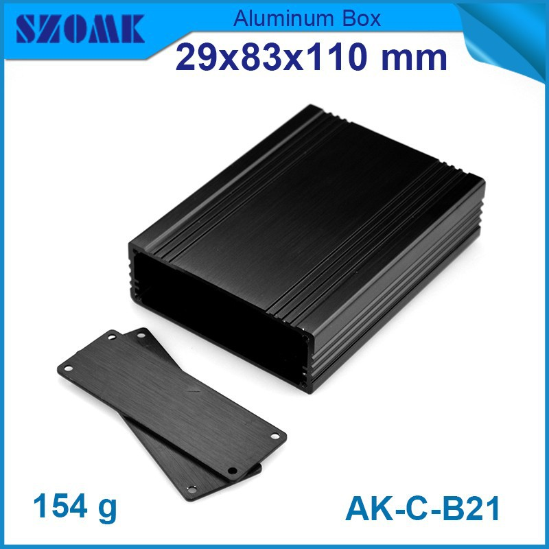black color aluminium project box diy aluminum housing enclosure high quality and nice smooth surface looking