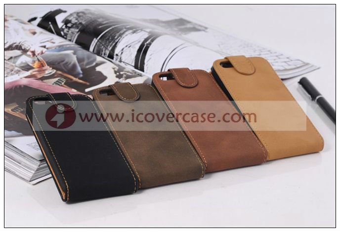Retro style velvet leather flip case for iphone 5,for iphone 5g case manufacturer wholesaler