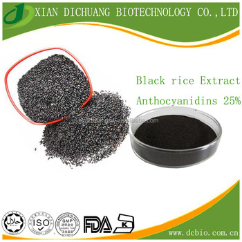 wholesale price Black Rice Extract Powder Anthocyanins 25% UV Antioxidant