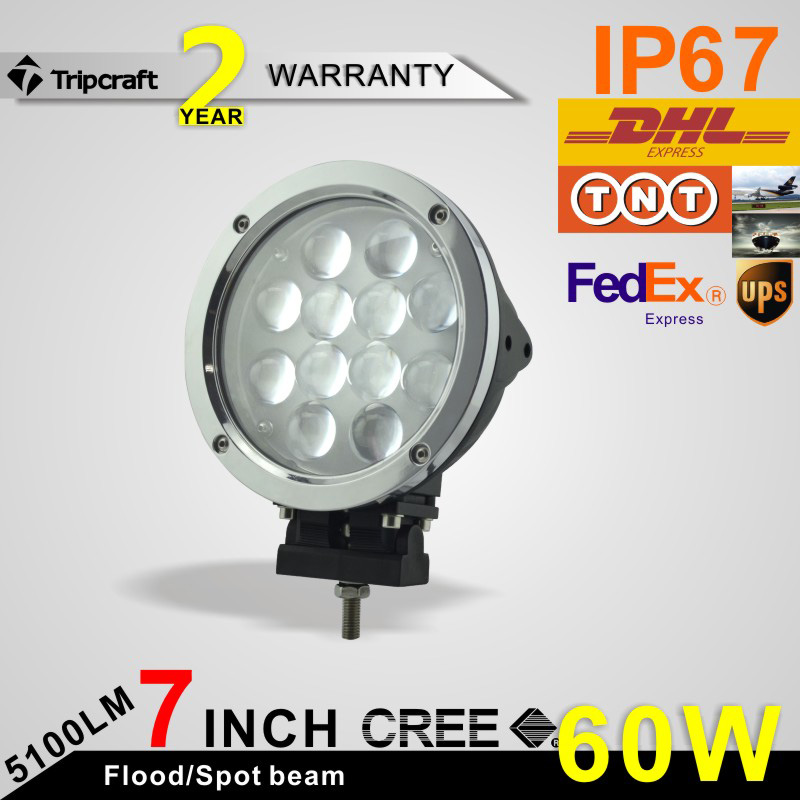 "<strong>Auto</strong> round 7"" headlight 4x4 60w led driving light 4D 60w work lamp"