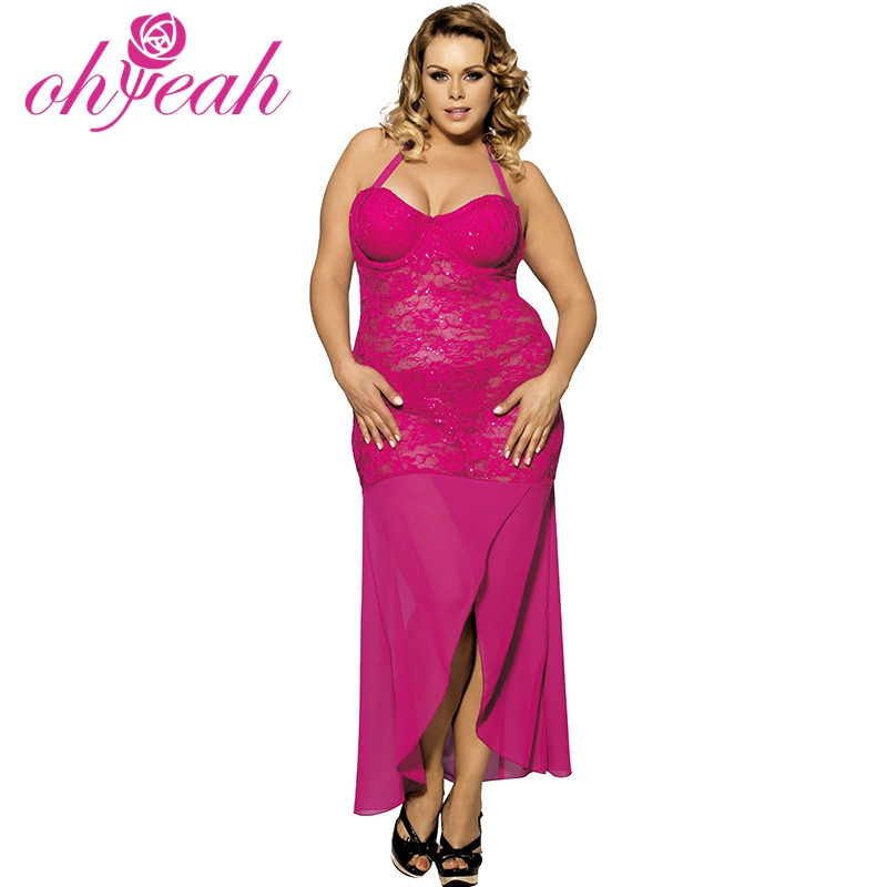 New Style Night Sleeping Dress For Fat And Thin Women Sexy -1221
