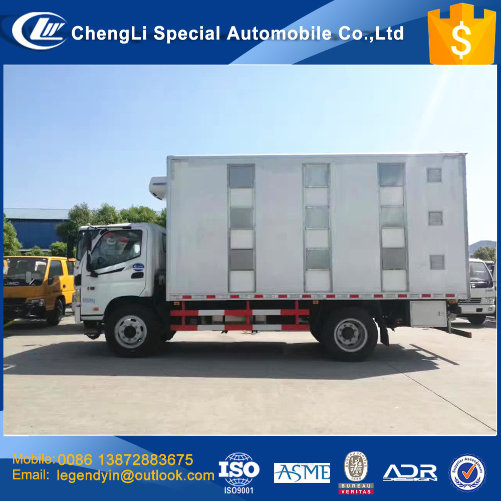 CLW best animal transport box truck CLW5120CCQ3 model 4x2 chicken pig cow goat transport box truck mounted with cooling unit