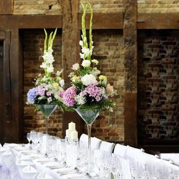 Cheap Wedding Decoration Wholesale Clear Flower Martini Vase Used