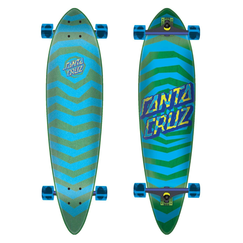 "Santa Cruz Longboard Illusion Dot Pintail Green 9.58"" x 39"""