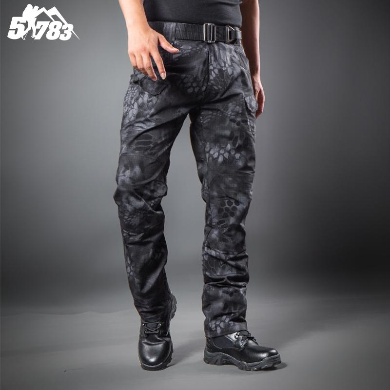 Black Military Cargo Pants Men  615d4f1b736