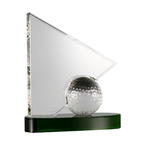 Crystal Awards and Trophies Golf Football Crystal Trophy for Business GIfts