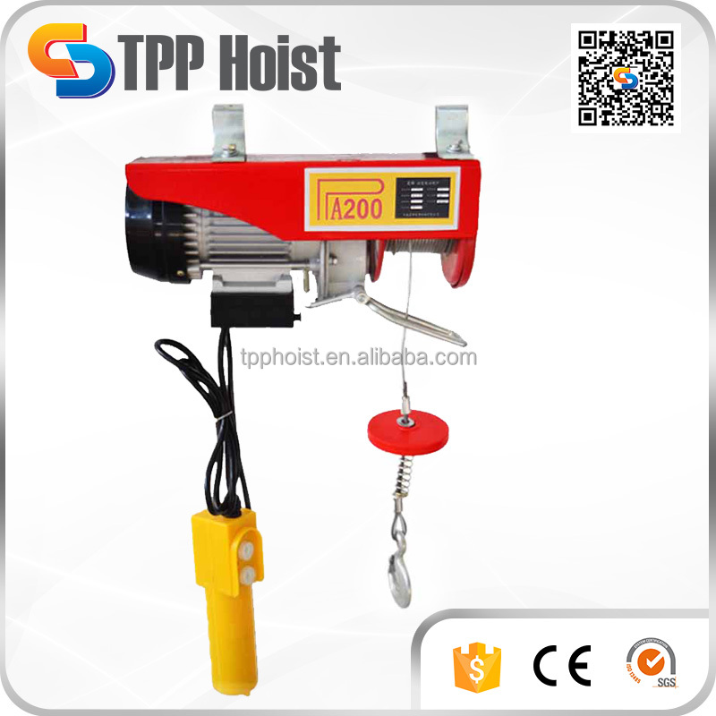 PA1000 Portable Micro Electric Wire Rope Motor Lifting Hoist China Manufacturer