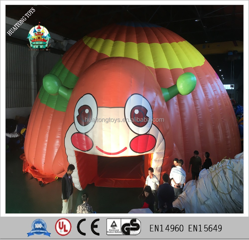 new design inflatable snail cartoon air dome party tent