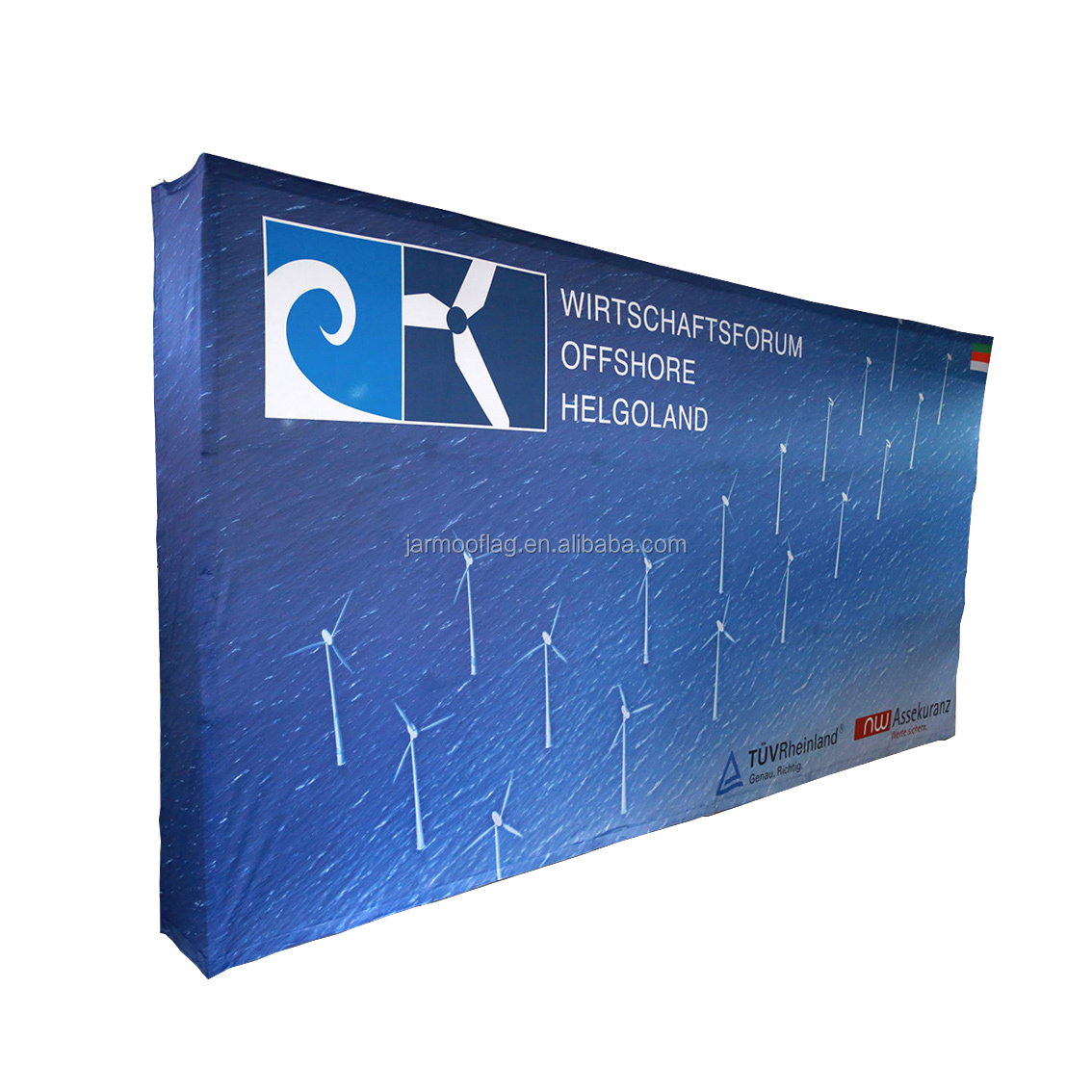 Manufacturer Portable Wall Tension Fabric Trade Show Magnetic Wall Pop Up Display