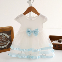 Newborn Baby Dress Summer Cotton dress Bow Baby Rompers For girls Summer Kids Infant Clothes Baby Girls Jumpsuit