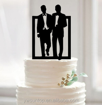 Gay Wedding Cake Topper Silhouette Acrylic Cake Topper Wholesale Buy Gay Wedding Cake Topper Funny Wedding Cake Topper Gay Wedding Gifts Product On
