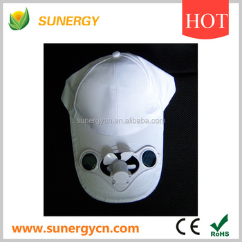 Fashion Solar Powered Cooling Fan Cap Buy Solar Cooling