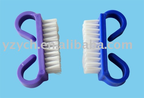 nail cleaning plastic nail brush for hospital