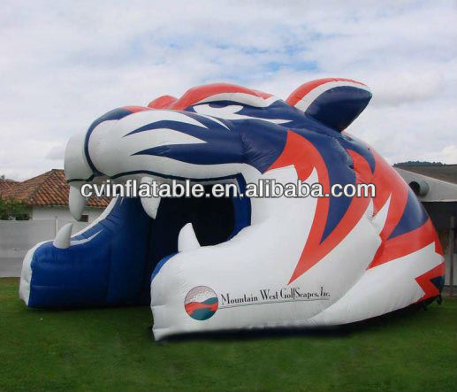 high quality Tiger Mascot Head Inflatable Tunnel,inflatable tunnel