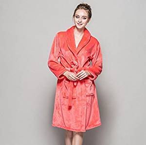 b759c5b32e Get Quotations · DJCoral fleece Nightgown Flannel Bathrobes