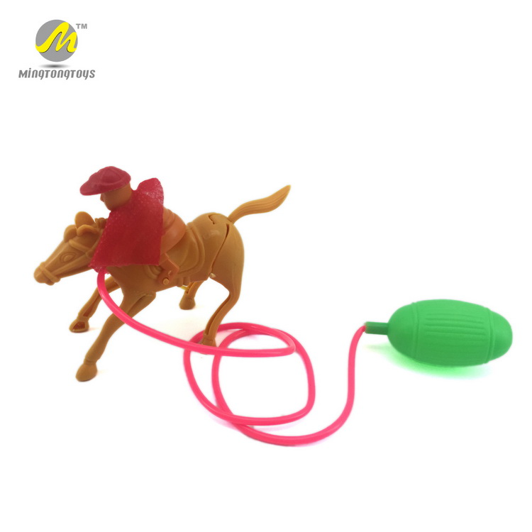 Cheap animal toys air pressure horse small toy plastic horses