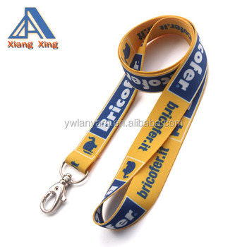 2016Top quality thick polyester cheap custom lanyards no minimum order