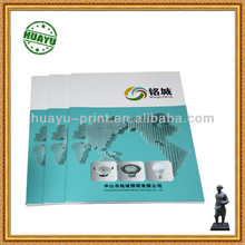 A4 size full color perfect binding brochure printing for lighting