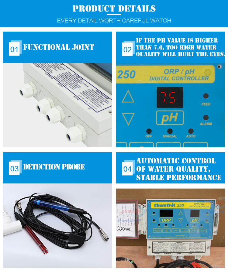 ORP/PH Digital CONTROLLER Water Quality Controller