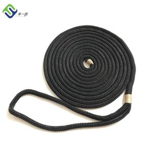 8mm Black Double Braided Nylon Dock Line Rope With High Strength