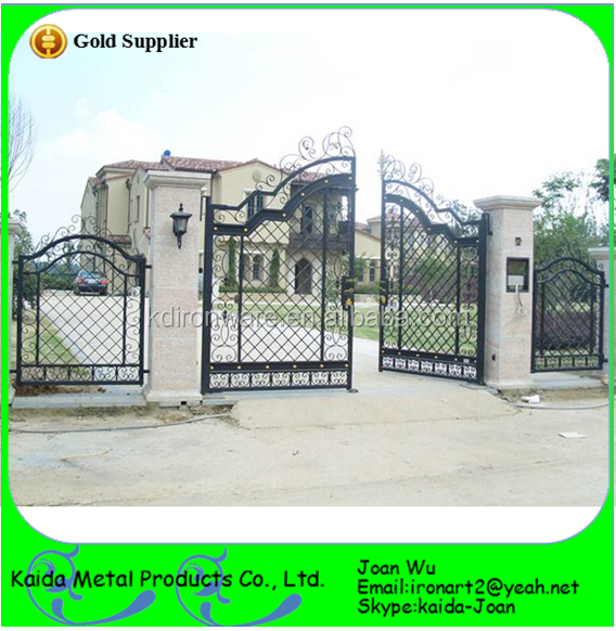 Decorative Wrought Iron Outdoor Fence Gates For School/factory/villa - Buy  Wrought Iron Gates,Decorative Wrought Iron Outdoor Gates,Wrought Iron