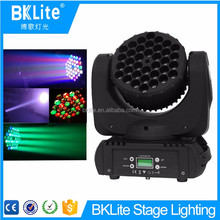 BKLITE New style high quality cheap 36x3w Wash Effect LED Moving Head Light