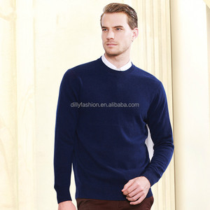 100% cashmere O neck pullover pattern mens knitwear