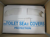 Eco-friendly half fold disposable paper toilet seat covers